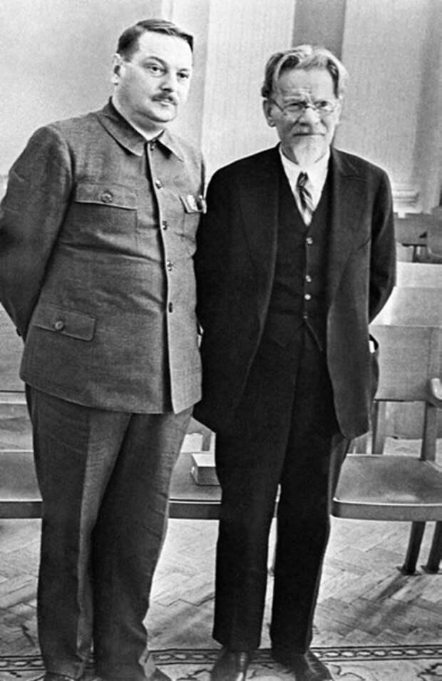 Председатель Верховного Совета РСФСР А.А. Жданов и Председатель Президиума Верховного Совета СССР М.И. Калинин