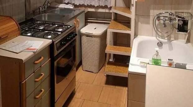 Смелое дизайнерское решение для малогабаритной квартирки дизайн, креатив, малогабаритная квартира, решение, смелое решение, туалет