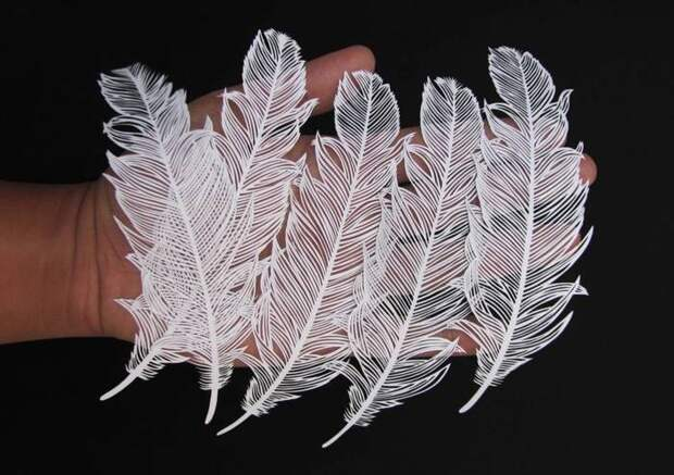 Кири (kirie) - японское традиционное искусство вырезания из бумаги