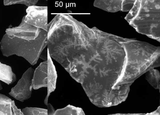 На гранулах пирита выросли кристаллы из первичного бульона