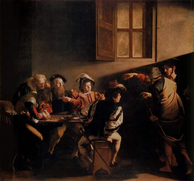 Микеланджело Меризи да Караваджо. Призвание апостола Матфея. 1599 год
