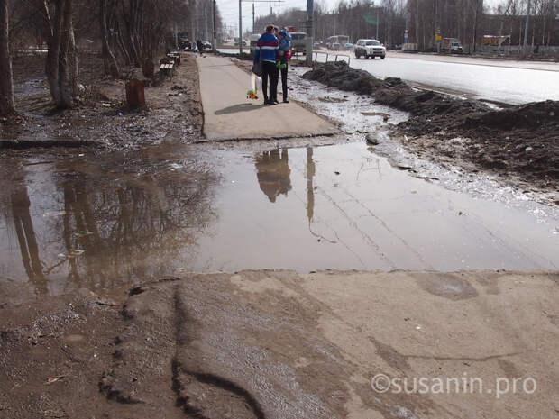 Десятую часть нуждающихся в ремонте тротуаров приведут в порядок в Ижевске