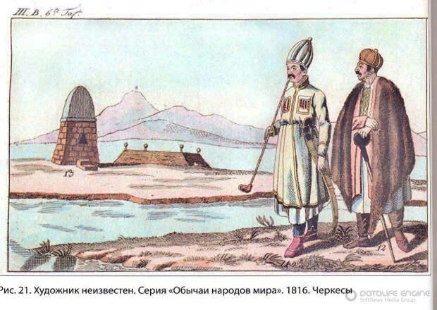 Немец Иоганн Шерр о черкесах
