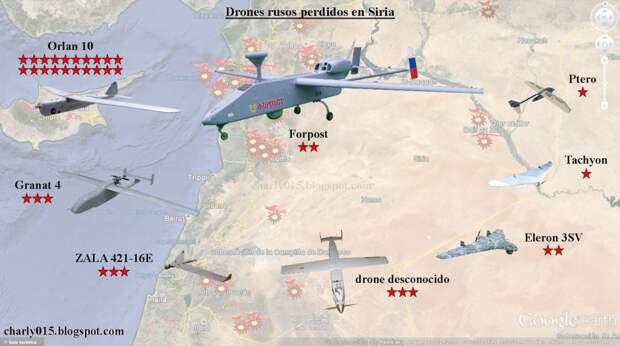 Россия официально потеряла 35 беспилотников в Сирии