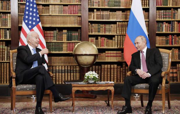 Путин и Байден обменялись шуткой перед переговорами