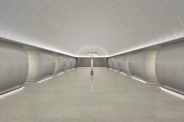 На станция БКЛ «Марьина Роща» начались архитектурно-отделочные работы