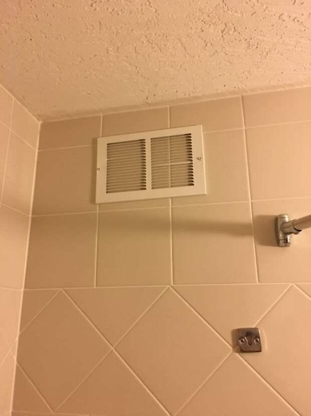 6. Странно, почему вентиляция в ванной не работает? Все включено, гостиница, забавно, подборка, прикол, провал, фото, юмор