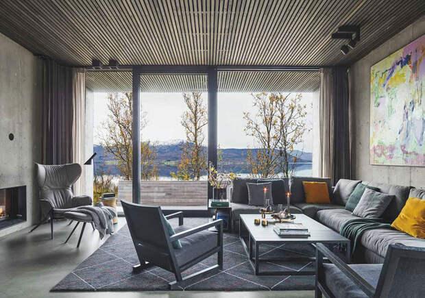 Жизнь с видом на фьорды: современный уютный дом в Норвегии