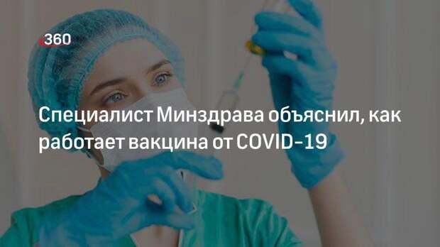 Специалист Минздрава объяснил, как работает вакцина от COVID-19