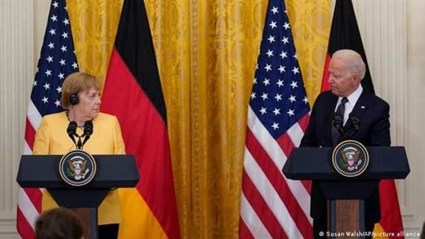 Канцлер ФРГ Ангела Меркель на совместной пресс-конференции с президентом США Джо Байденом