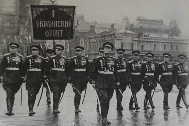 1-й Украинский фронт на Параде Победы