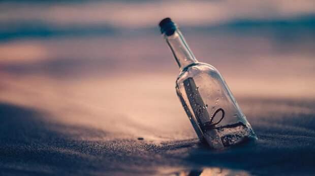 В Канаде на пляже нашли бутылку с посланием с «Титаника»