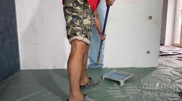 Отделка стен декоративной краской с эффектом шелка