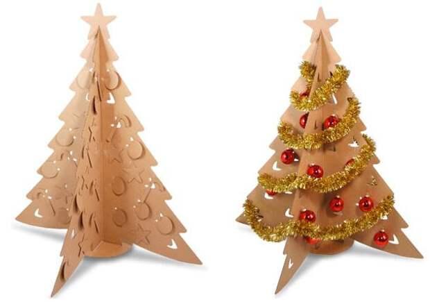 самодельные новогодние елки
