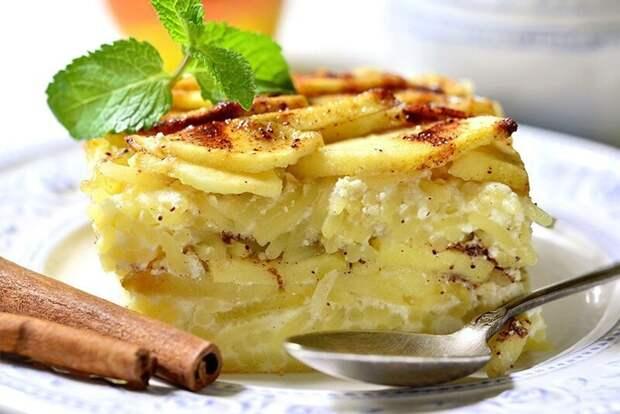 Низкокалорийный рецепт: яблоки в твороге