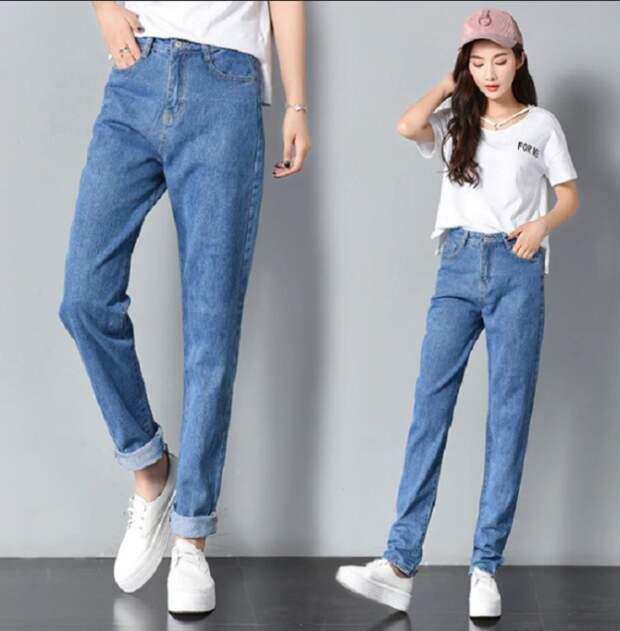 В 21 веке такие джинсы стали называть ДЖИНСЫ-БОЙФРЕНДЫ / Источник фото: yandex.ru