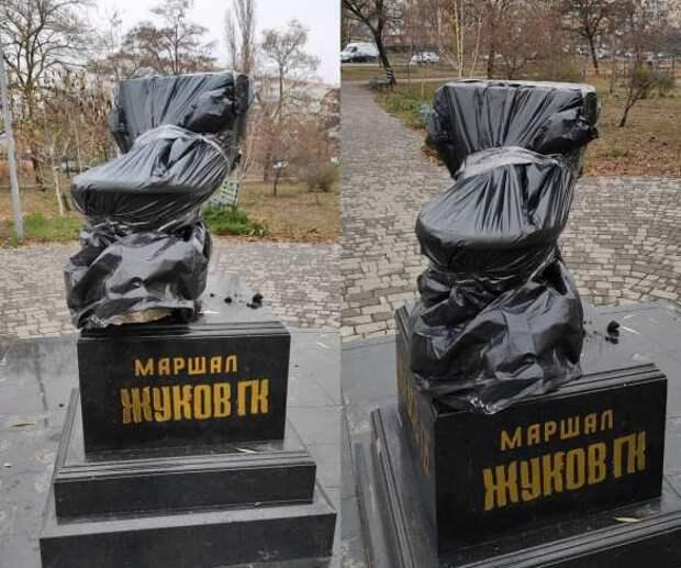 ВОдессе «благодарные потомки» поставили унитаз напостамент памятника маршалу Жукову (ФОТО) | Русская весна