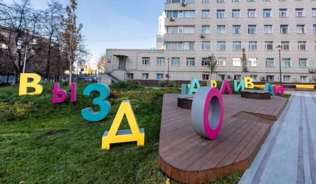 На территории детской больницы имени Сперанского появились арт-объекты и цветники