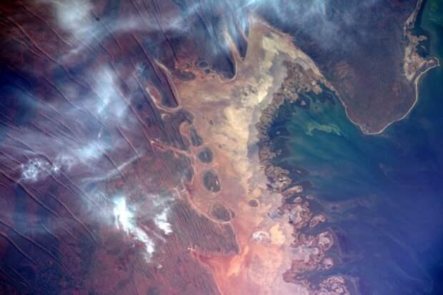 9. Залив Эксмут на западе Австралии земля, космонавт, космос