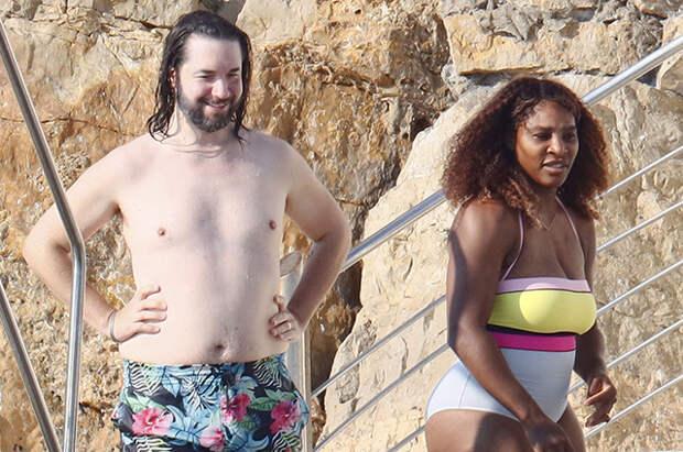 Серена Уильямс с мужем Алексисом Оганяном и дочерью отдыхает на юге Франции