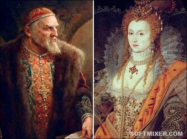 Иван Грозный и английская королева Елизавета