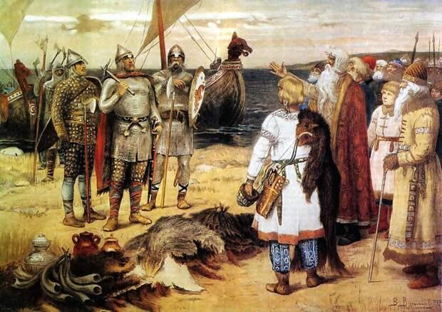 Рюрик с братьями прибыли окультуривать Русь  (картина Васнецова)