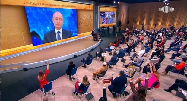 Негодяи: один написал вопрос, другой передал президенту Путину