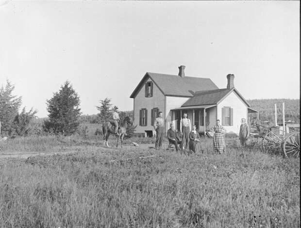 Как поднималась американская целина. Архивные фотографии пионеров Великих равнин конца 19-го века 30