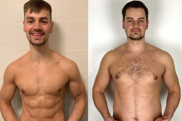 Мышцы в обмен на жир: тренер показал шокирующие изменения тела и психики, намеренно набрав 25кг