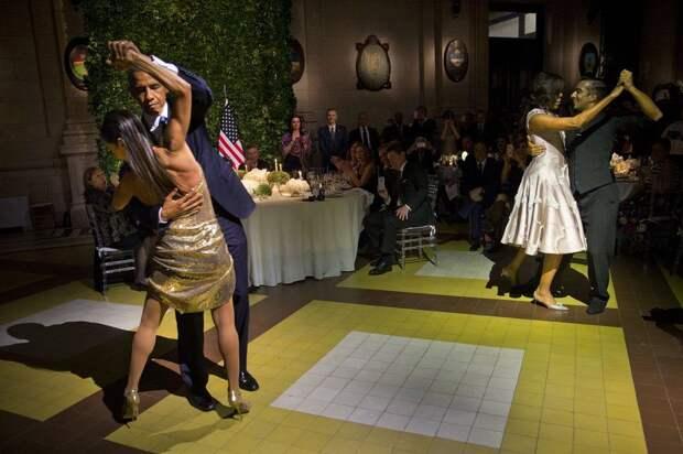 Обама танцует танго