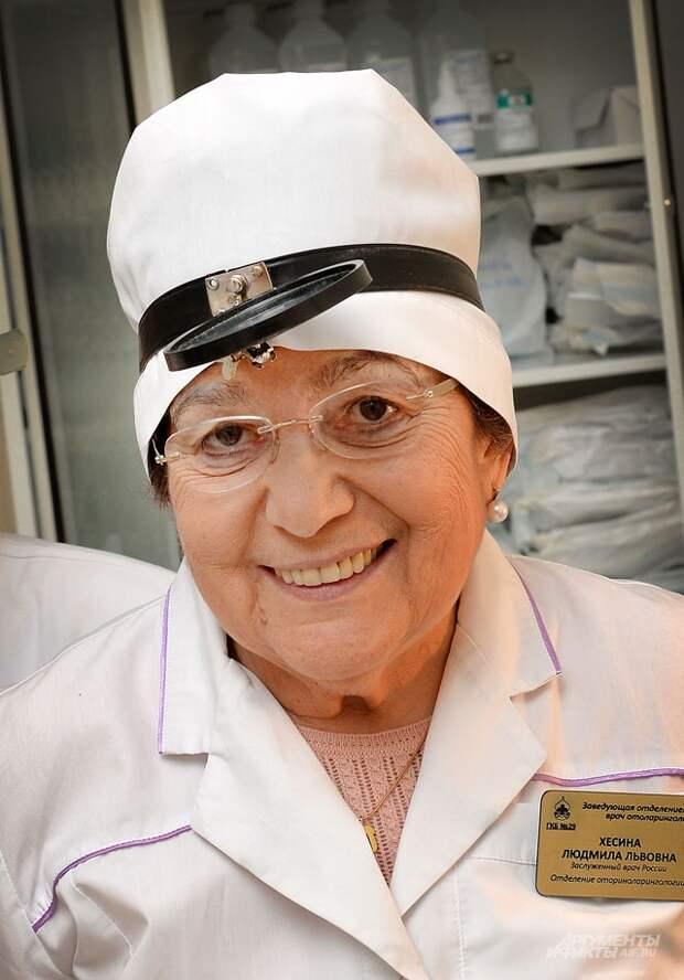 Людмила Хесина, заведующей лор-отделением московской больницы № 29 имени Баумана.