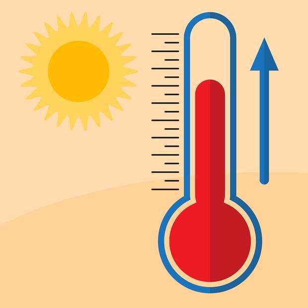 Летом, Жара, Погода, Температуры, Солнце, Термометр