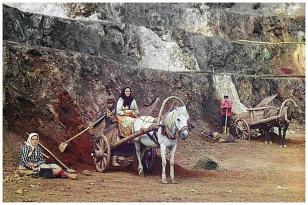 Уральские железорудные месторождения, 1915 год Крестьяне, россия, старые фото