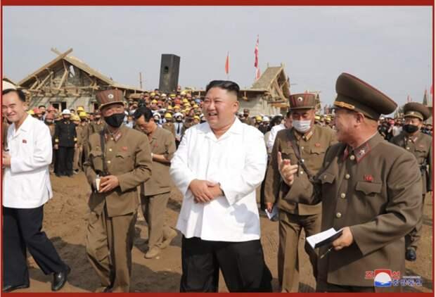 Ким Чен Ын за работой