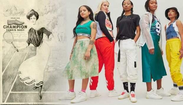 Слева направо: Винтажная реклама кроссовок для женщин (теннисная обувь). \ Кроссовки Reebok. \ Фото: facebook.com.