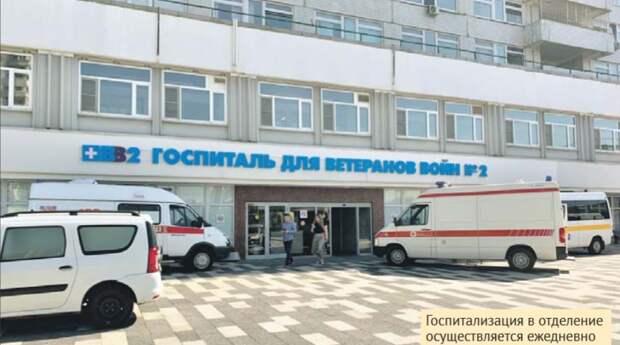 Госпитализация в отделение осуществляется ежедневно / Фото предоставлено пресс-службой госпиталя для ветеранов № 2