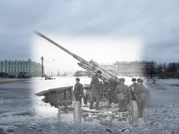Ленинград 1942-2009 Марсово поле. Зенитчики на боевом посту блокада, ленинград, победа