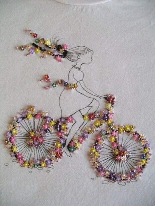 Бисерный велосипед