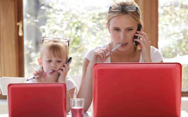 Я не работаю, у меня дети, или Я работаю, потому что у меня дети?