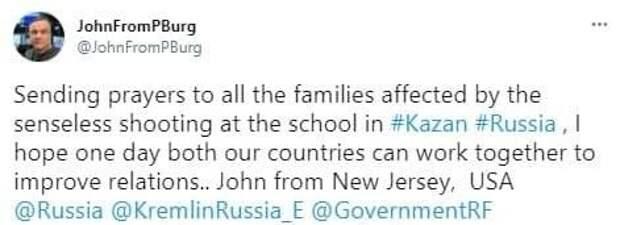 Иностранцы в Twitter выразили свое соболезнования по поводу событий в Казани