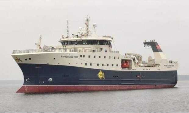 Архангельским рыбакам передали суперсовременный траулер-процессор «Норвежское море»