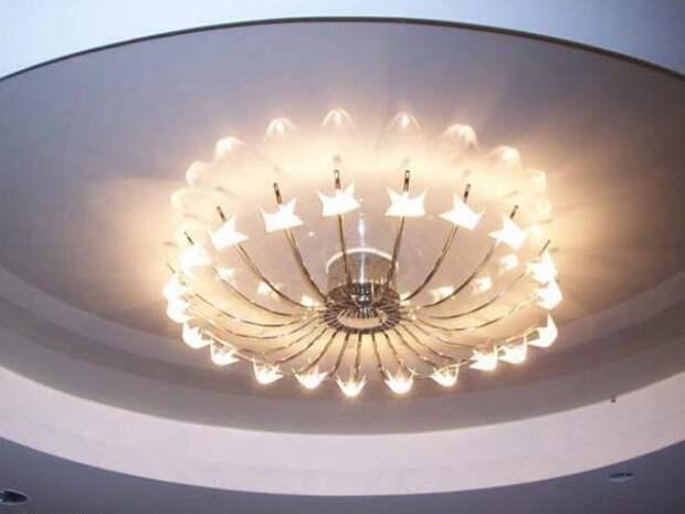 С какими проблемами можно столкнуться при установке люстры на натяжной потолок