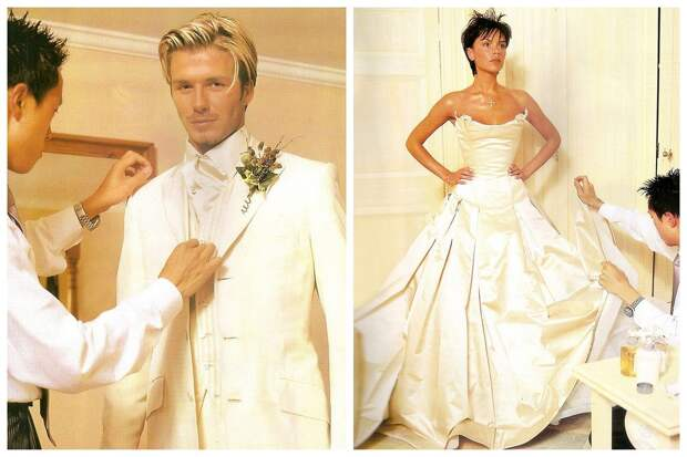 Какой была свадьба Бекхэма и Виктории Адамс. Шикарные фото с грандиозного торжества в старинном замке