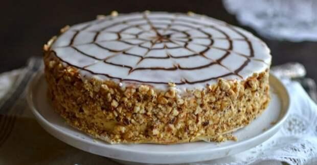 Торт «Кружевница» с хрустящими коржами без муки