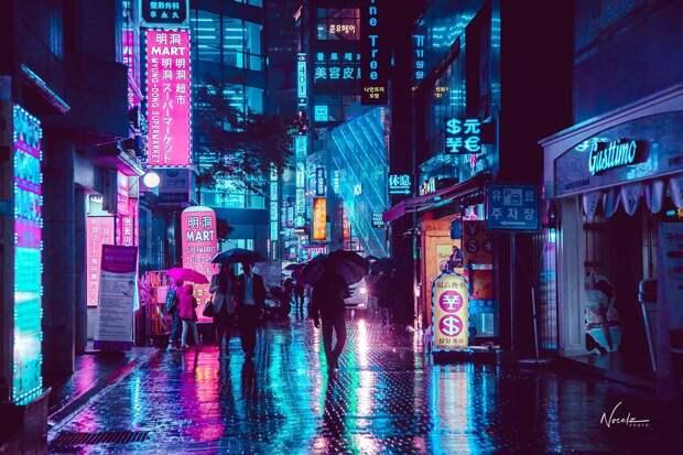 Фотки на мобильный: 30 потрясающих кадров дождливого Сеула