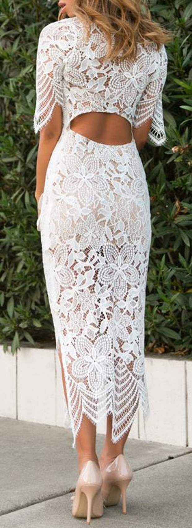 Lace maxi bodycon dress
