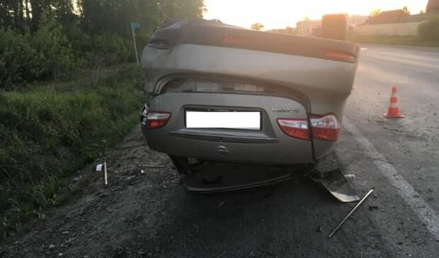 Пьяный водитель без прав перевернулся наавтомобиле под Екатеринбургом