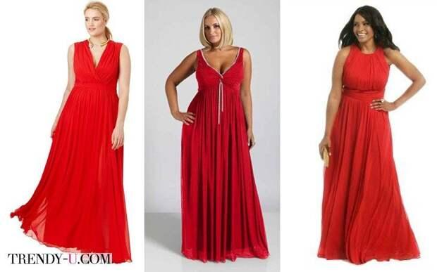 Нарядные платья в красном цвете