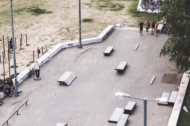 В Краснодаре отремонтировали скейт-площадку около «Олимпа»
