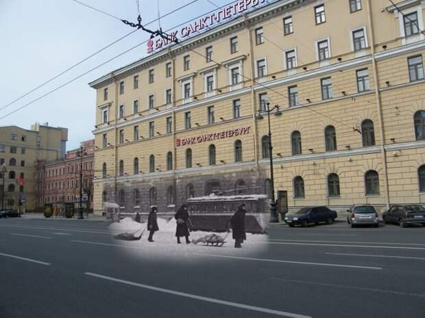Ленинград 1942-2009 Невский проспект 178. Путь к Александро-Невской лавре блокада, ленинград, победа